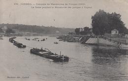 CORBEIL Concours De Manoeuvres De Pompes La Seine Pendant La Manoeuvre Des Pompes à Vapeur, Rare - Corbeil Essonnes