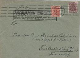 Perforé Perfin Lochung - Infla - Leipziger Neueste Nachrichten 1921 - Deutschland