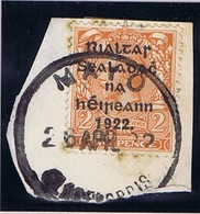 Ireland Mayo 1922 Rubber Climax Datestamp MAYO CLAREMORRIS 26 APR.22 On Thom 2d On Piece, Stains - Irlande