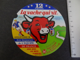 Etiquette De Vache Qui Rit Football Angleterre 96 - Cheese