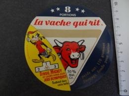 Etiquette De Vache Qui Rit Dingo Mickey Jeux Olympiques - Cheese