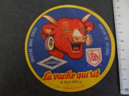 Ancienne étiquette De Vache Qui Rit Ligue Pour La Prévention Du Cancer - Cheese