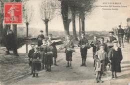 "CPA 489 - Ailly Sur Somme - ""Chés Carteleux Del Semaine Sainte"" - Coutume Locale - Ailly Sur Noye"