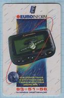 UKRAINE / Zaporozhye / Phonecard Ukrtelecom / Phone Card / Advertising National Satellite Pager Network. EUROINFORM 1999 - Ukraine