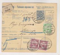 CROATIA HUNGARY 1917 OKUCANI Parcel Card - Croatie