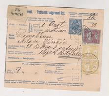 CROATIA HUNGARY 1915 SARENGRAD Parcel Card - Croatie
