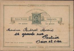 Republica Portuguesa Guiné Portugueza Entier 30 Réis Vert Sur Brun Effigie Luis 1er CAD Correios Bissau 15 DEZ 86 - Portuguese Guinea