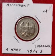 ALLEMAGNE-  1 MARK 1924 J - [ 3] 1918-1933 : Weimar Republic