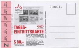 Österreich Tageseintrittskarte Zur WIPA 2000 Ungebraucht Austria Ticket Unused - 1945-.... 2nd Republic
