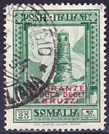 Somalia Italiana 1934 Onoranze Al Duca Degli Abruzzi Mi 190, Sassone 186 Used O - Somalie
