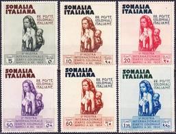 Somalia Italiana 1934 2a Mostra Internazionale D'Arte Coloniale Serie Compl Mi 197-202, Sass 193-198 MNG (*) - Somalia