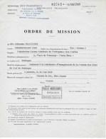 """Ordre De Mission Ministère Des Transports-""""Etablissement National Des Invalides De La Marine Marchande"""" 1969 - Barcos"""