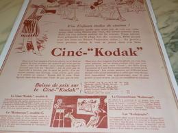 ANCIENNE  PUBLICITE ENFANTS ETOILES DE CINEMA   AVEC CINE  KODAK 1928 - Fotografia