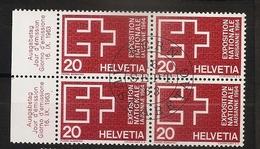 Suisse Helvetia 1963 N° 718 X 4 Iso O Propagande, Exposition Nationale, Lausanne, Croix Suisse - Suisse
