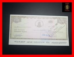 ZIMBABWE 1.000  1000 $  2003 Travellers Cheque  P. 15  UNC - Zimbabwe