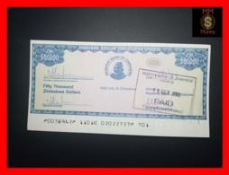 ZIMBABWE 50.000  50000 $  2003  Travellers Cheque P. 19  UNC - Simbabwe