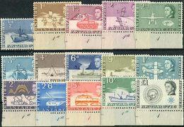 BAT 1963. Michel #1/15 MNH/Luxe. Antarctic Research. Transport. (B25) - Tratado Antártico