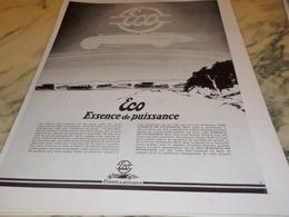 ANCIENNE PUBLICITE ESSENCE DE PUISSANCE ECO 1928 - Vervoer