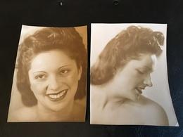Lot 2 PHOTOS Femme épaules Nues - Beauté Féminine (1921-1940)