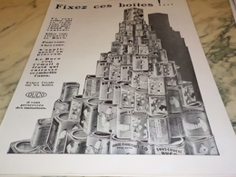ANCIENNE  PUBLICITE FIXEZ CES BOITES  DUCO 1928 - Unclassified