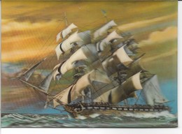Sailing Vessel On 3D Card.  B-1270 - Stereoscope Cards