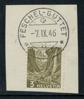 Suisse // Schweiz // Non Classée // Valais // Timbre Avec Oblitération Valaisanne Sur Fragment (Feschel-Guttet) - Ohne Zuordnung