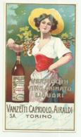 VERMOUTH VINO CHINATO - VANZETTI CAPRIOLO & AIRALDI TORINO - CM. 15,5X 8,5 - Alcohols