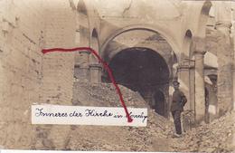 ( 62 ) -  Monchy-le-Preux Inneres Der Kirche Carte Photo Allemande 1° Guerre - France