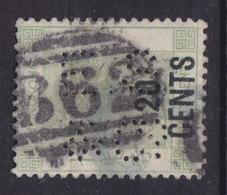 Hong Kong Perfin Perforé Lochung 'E.S & Co.' 1891 Mi. 48 Ia  20c. Auf 30c. Victoria Stamp 'B62' Cancel Cote 200 € - Hong Kong (...-1997)