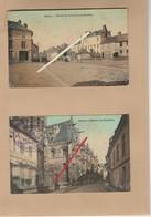 Dept 27 : ( Eure ) Gisors, N°1 Entrée Du Faubourg De Neaufles,   Gisors, N° 2 église Rue Dauphine. - Gisors