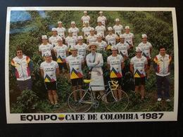 Team - Cafe De Colombia - 1987 - Carte / Card - Cyclists - Cyclisme - Ciclismo -wielrennen - Cyclisme