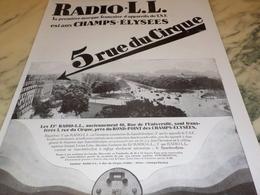 ANCIENNE PUBLICITE 1 MARQUE FRANCAISE RADIO LL 1928 - Radio & TSF