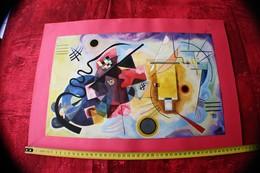 """Kandinsky """"rouge, Bleu, Jaune"""", 1925 LITHOGRAPHIE PEINTURE- DESSIN Reproduction CONTEMPORANEO-PEINTRE CONTEMPORAIN - Lithographies"""