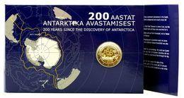 2 Euro Estland Estonia 2020 Discovery Antarctica Segelschiff Coincard  BU - Estonie