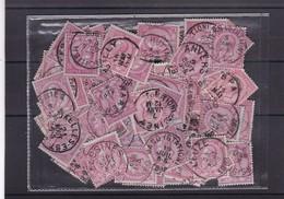 N° 46  : Lot 100 Timbres Oblitérés - 1884-1891 Léopold II