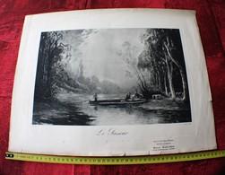 FOREAU GRAVURE ESTAMPE LE PASSEUR  MAISON MARLIERE A CAMBRAI 1928 SALON DE LA COIFFURE DAMES HOMMES - Gravures
