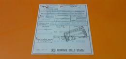 BIGLIETTO TRENO DA FERRARA A PALERMO CENTRALE 1979 - Treni