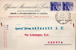 Lucca Officine Meccaniche Lenzi - 6. 1946-.. Repubblica