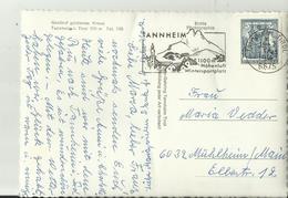 AT AK SST 1967 TANNHEIM HOTEL - 1961-70 Briefe U. Dokumente