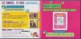 = Encart Cartonné Timbre Autocollant 864A Neuf Marianne Et La Jeunesse TVP LV 20g Lecture électronique 3D Collector 223 - 2013-... Marianne De Ciappa-Kawena
