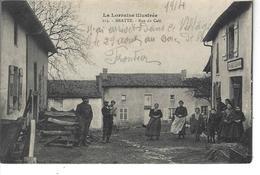 54 - BRATTE - Belle Et Rare Vue Animée De La Rue Du Café -  ( Café Brister Tabac ) - Other Municipalities