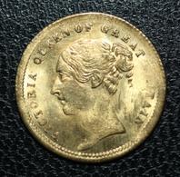 """Jeton (spade) De Jeu Imitant Un Demi-souverain Britannique (vers 1858) """"Victoria Queen Of Great Britain"""" Victoria Token - Casino"""