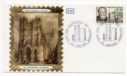 FDC France - Art Gothique En Picardie 05/04/1975 - La Cathédrale D'Amiens - 80 Amiens - FDC