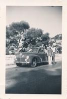 Snapshot Animée Villefranche Sur Mer 1951 Voiture Ancienne Décapotable Car Auto - Automobiles