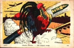 Année Date Millesime - 1915 - Patriotique Chants Gaulois, Coq Canon Signé Rayewik - Nouvel An