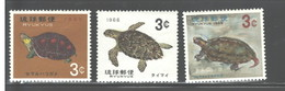 "RYUKYU ISL. 1965 - 1966 ""SEA LIFE"" #136-138 MNH - Stamps"