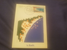 Cp Carte Maximum Premier Jour La Baule 22/7/67 Illustrateur Gayot - Cartes-Maximum