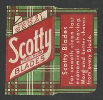 Razor Blade SCOTTY Old Vintage WRAPPER (see Sales Conditions) - Razor Blades