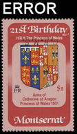 MONTSERRAT 1983 Diana Birthday Coat Of Arms $1 OHMS.ERROR:INV.OVPT. - Montserrat