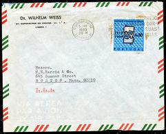 !■■■■■ds■■ Portugal 1969 AF#1049 Work International Organization Cover To USA 4$30 Top Of The Set (c270) - 1910-... République
